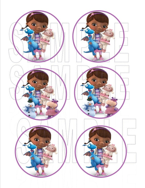 Printable DIY Party  DOC McSTUFFINS  Cupcake Toppers or Stickers