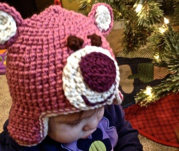 Knitting Patterns For Toy Hats : Toy Story Lotso Crochet Hat