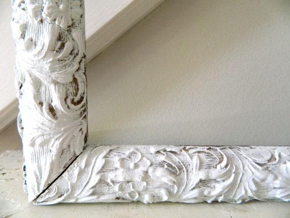 Vintage Shabby Chic Frame White Wooden