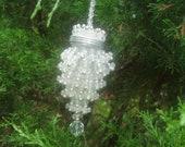 antique  tea strainer ornatment crystal chandelier decoration christmas ornament made of tea strainer  chandelier ornament