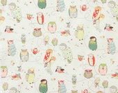 Alexander Henry Fabric - Spotted Owls - Natural - In the Kitchen Collection - Novelty Fabric