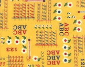 Moda Fabrics - School Days Collection - American Jane - Letters, Numbers, and Script - Yellow