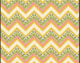 Art Gallery Fabric - Vintage Fence - Honey - LillyBelle Collection by Bari J.