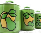 Kromex Canister Set Avocado Never Been Used 1970s Retro