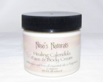 Healing Calendula Face & Body Cream - 2 oz