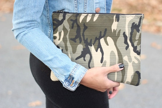 SALE - Camo Statement Clutch