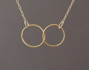 Double Link Eternity Gold Fill Necklace also in Silver