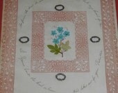 1840's Valentine Hand Written & Painted w/Applied Decorations FREE Shipping USA