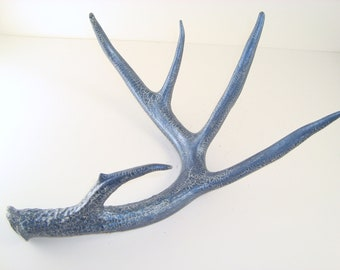 Painted Deer Antler Art Sculpture- Large