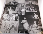 Classic Art Ephemera for Collage, Mixed Media, Decoupage : 25 Black and White Images-- Michelangelo, Raphael, Rembrandt, Renoir and more