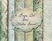 Leaf -  Digital Paper for Scrapbooks, graphics, decoration, backgrounds, invitation