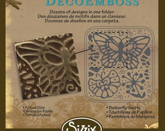 Sizzix DecoEmboss Die - Butterfly Swirls by Vintaj