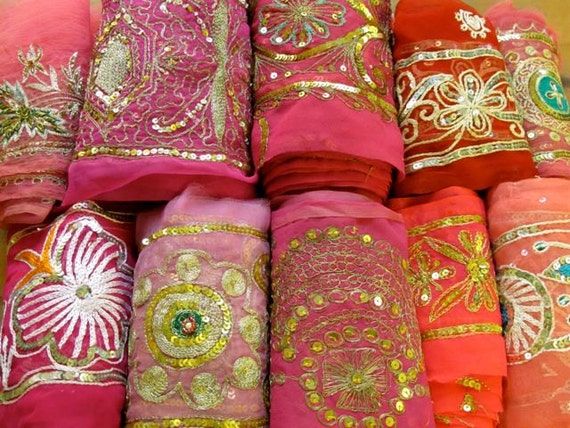 Sari Borders, Sari ribbon, Embroidery Borders