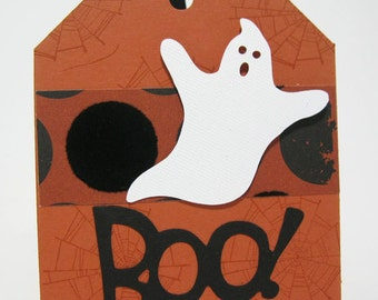 Halloween Tags - Halloween Treat Tags - Ghost Tags - Candy Tags- Boo Tags--Ready to ship