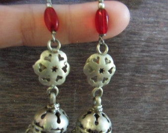 India Traditional Tribal Silver earrings