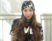 "Black and White Turban Headband- ""Wishful Thinking"" Headband"
