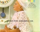 Crochet Poncho and Beret PDF Vintage Pattern B023 from WonkyZebraBaby