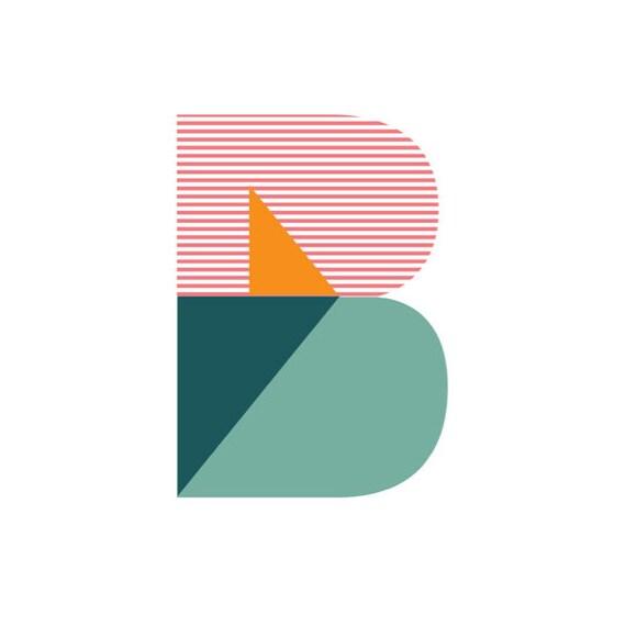 "Typographic Poster Geometric ""B"""
