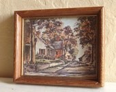 Vintage Wood Framed Picture with a Story