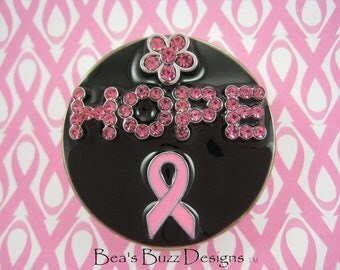 HOOKED on HOPE - Breast Cancer purse Hook,Custom Purse Holder,Nurse Jewelry,Purse, Purse Caddy,Cancer Jewelry,Cancer Awareness,Jewelry Gift