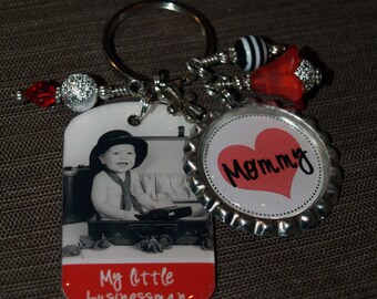 PERSONALIZED Mom Photo Gift,  Key Chain For Mom, Nana, Mimi, Great Grandma, Aunt - Mother's Day Gift, Mom Jewelry, Mom Accessory