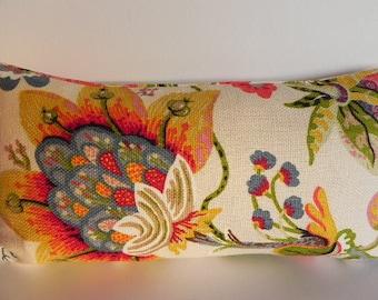 Floral 10X20-Both Sides-Decorative Pillow Cover Braemore Home Decor Fabric-Floral-Throw Pillow-Accent Pillow-Toss Pillow-Lumbar Pillow