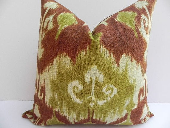 SALE-Richloom Ikat 20X20 Pillow Cover Designer Home Decor Fabric-Throw Pillow-Accent Pillow-Living Room Pillow-Couch Pillow-Olive Green