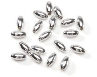Oval Silver Pearl Beads (1250pc)