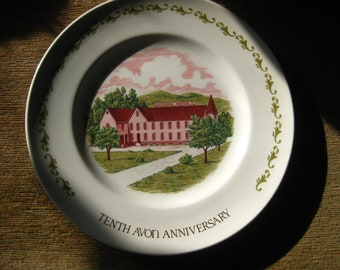 Avon Tenth Anniversary Plate The California Perfume Company by Enoch Wedgwood