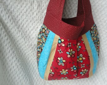 Large Insulated Sling Bag - Altered Amy Butler Pattern - Perfect School or Diaper Bag