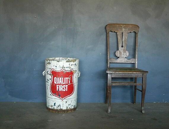 Wonderful Vintage Ice Cream Bucket. Original Paint.
