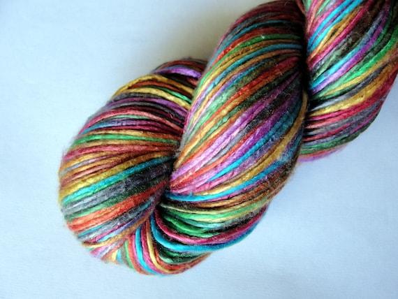 SALE, Silk Yarn Worsted Weight Duke Silk Yarn, Lace Knitting, Rainbow