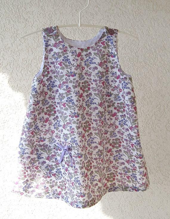 TODDLER DRESS 12 months - Liberty Nancy Ann