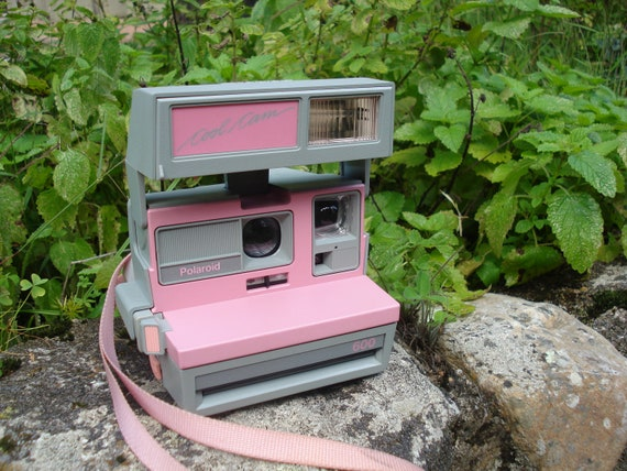 Vintage Polaroid Cool Cam Pink and Gray Camera