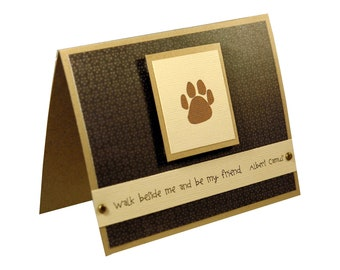 Dog Sympathy Card, Pet Sympathy Card, Thank you Petsitting