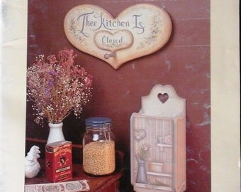 Dinah Layton Tole Painting Pattern Book From The Bottom of My Heart Doors Harps Victorian Country Decor
