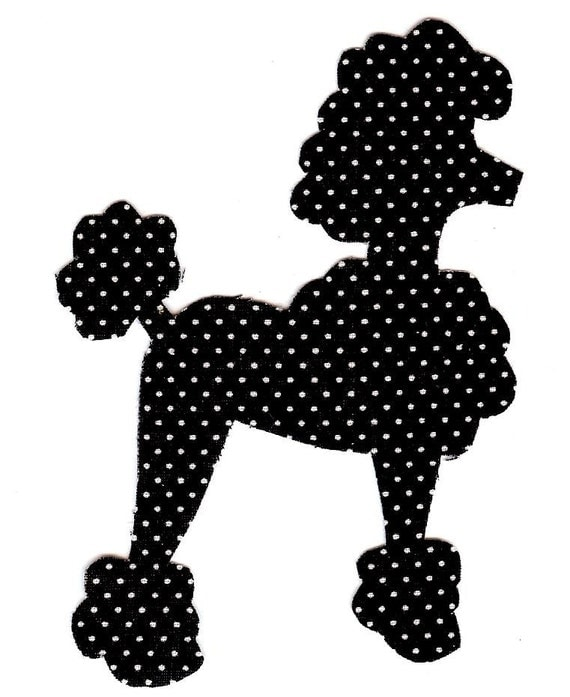 Iron On Fabric Poodle Applique Diy By Patternoldies On Etsy