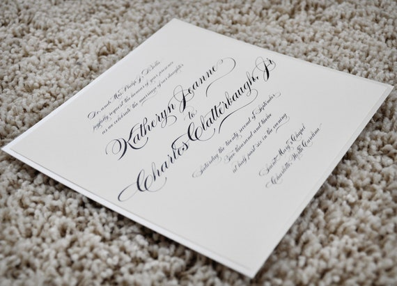 Traditional Elegant Wedding Invitations: Wedding Invitation Traditional Elegance By CoppiaCreativa