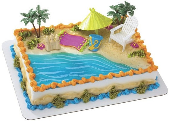 How To Make A Beach Chair Cake Topper