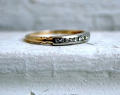 RESERVED - Classic Vintage 14K Yellow Gold Diamond Wedding Band.