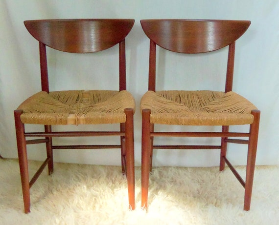 RESERVED TILL 4-4 Peter Hvidt Teak Dining Chairs Danish Modern Mid Century Modern Treasury Item