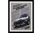 1978 DATSUN 280-Z Black Car Ad, Vintage Advertisement Print