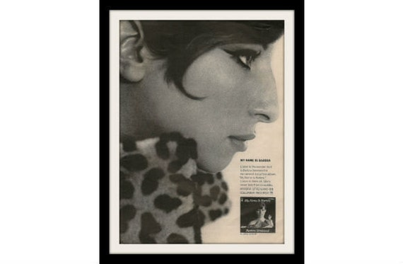 Barbara Streisand Photo Ad, Vintage Music Album Wall Decor Art Print