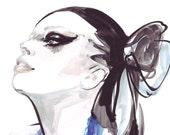 Watercolour Fashion Illustration Print 8 x 11, by Ioana Avram