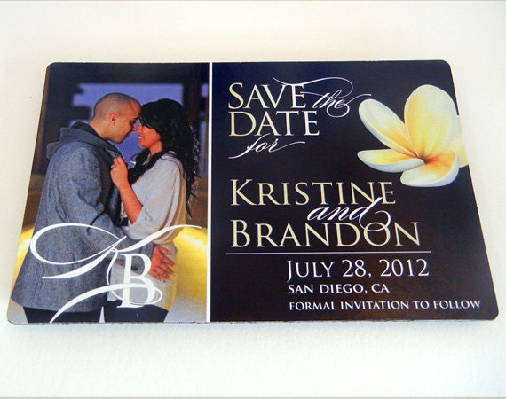 Items Similar To Destination Wedding Save The Date Magnet Tropical Island H