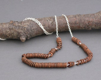 Simplicity Copper Washers sterling necklace
