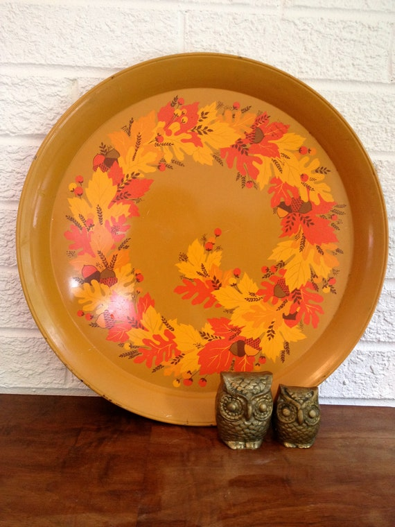 Vintage Fall Serving/Display Tray