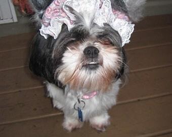 Granny/Big Bad Wolf Dog Halloween Bonnet size Small, Medium, Large or X large Costume Hood