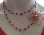 Prize Winning Red and Copper Long Necklace
