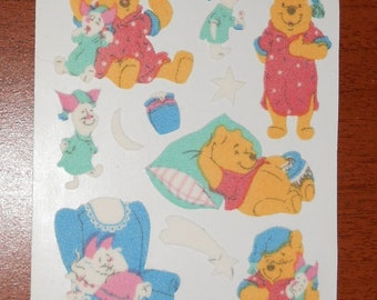 Sandylion Winnie The Pooh Fuzzy stickers  Maxi Sheet